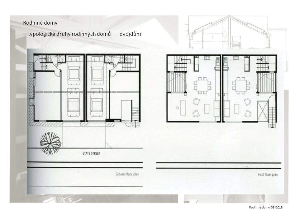 Rodinné domy 03/2015 Rodinné domy typologické druhy rodinných domůdvojdům
