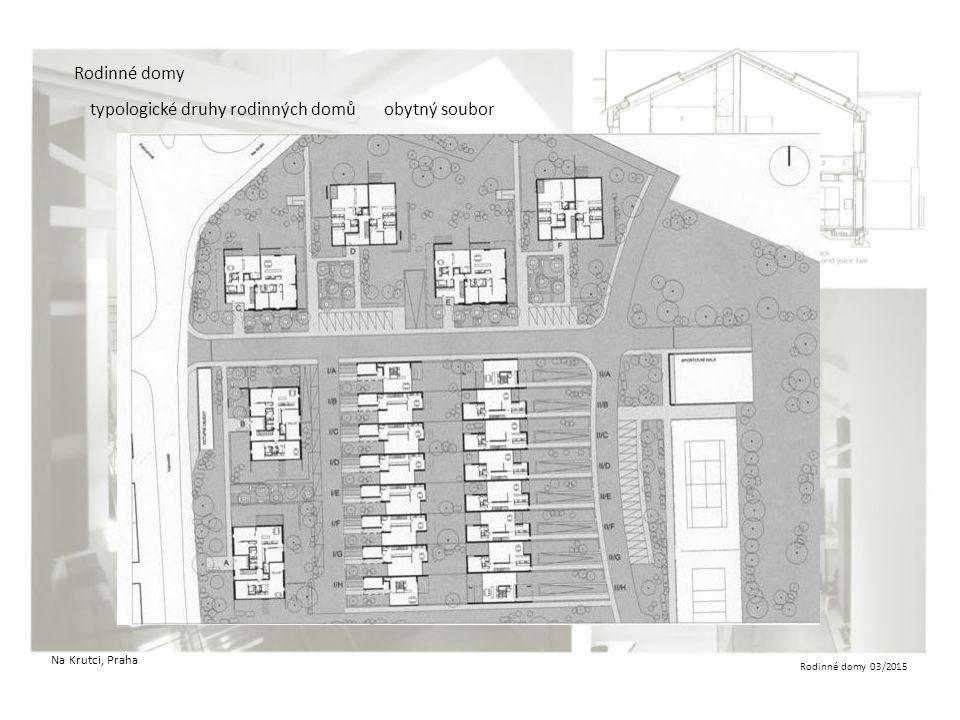 Rodinné domy 03/2015 Rodinné domy typologické druhy rodinných domůobytný soubor Na Krutci, Praha