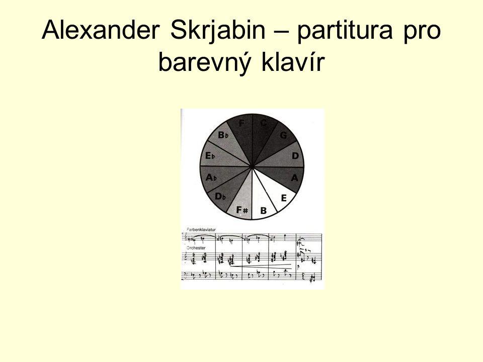 Alexander Skrjabin – partitura pro barevný klavír