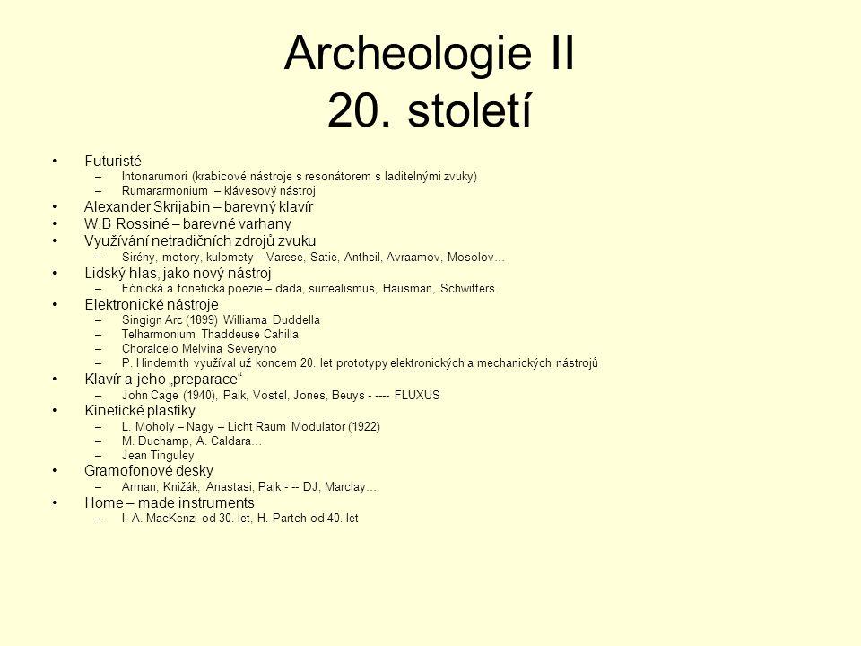 Archeologie II 20.