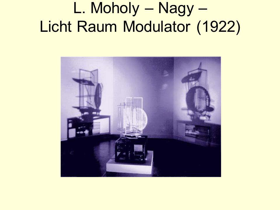 L. Moholy – Nagy – Licht Raum Modulator (1922)