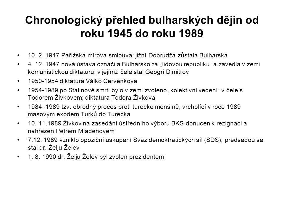 Chronologický přehled bulharských dějin od roku 1945 do roku 1989 10.