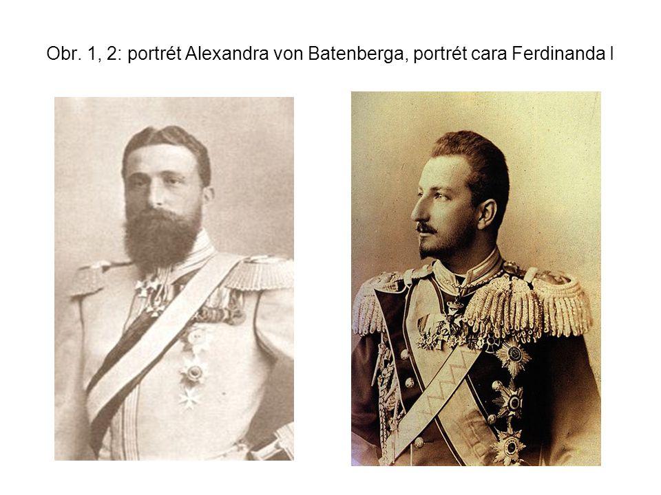 Obr. 1, 2: portrét Alexandra von Batenberga, portrét cara Ferdinanda I