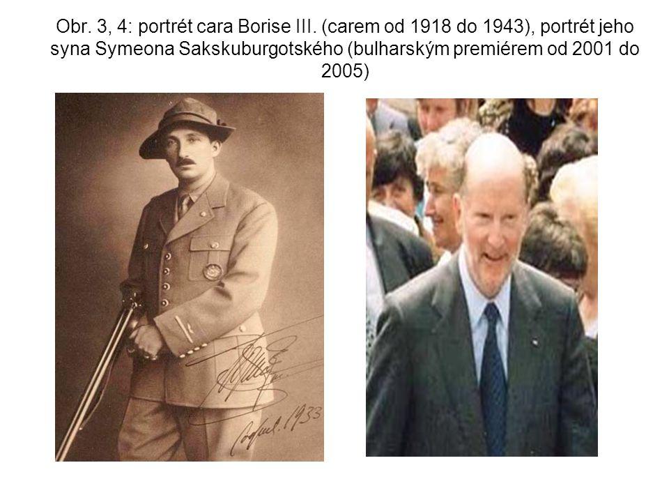 Obr.3, 4: portrét cara Borise III.