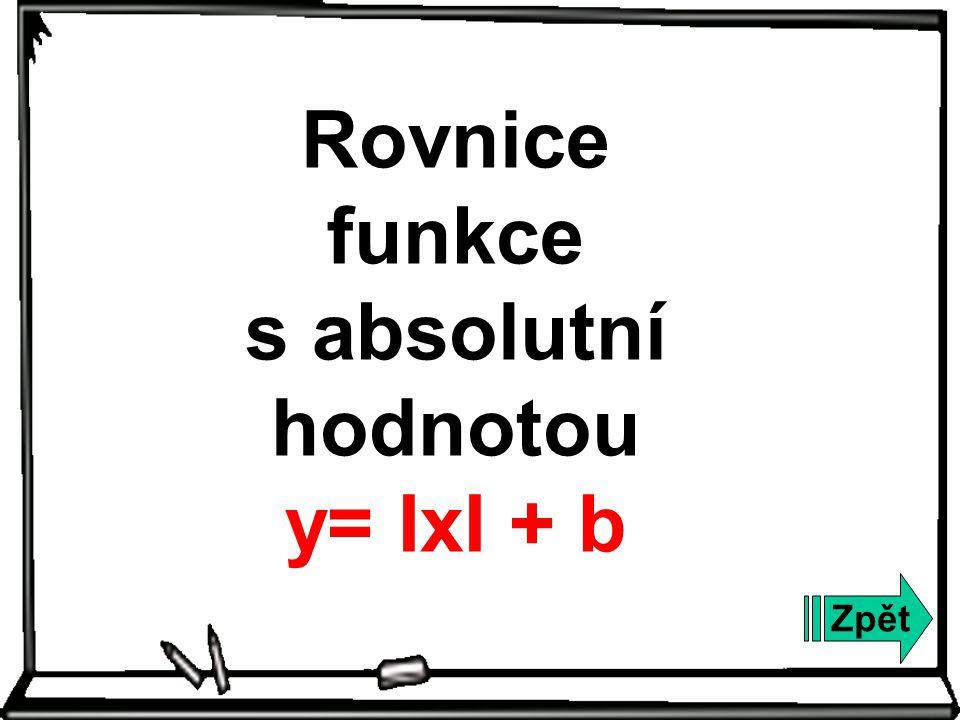 Zpět Rovnice funkce s absolutní hodnotou y= ΙxI + b