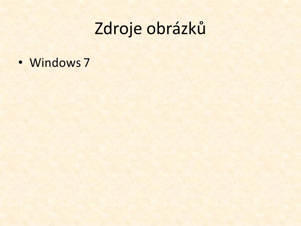 Zdroje obrázků Windows 7