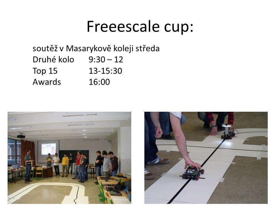Freeescale cup: soutěž v Masarykově koleji středa Druhé kolo9:30 – 12 Top 15 13-15:30 Awards 16:00