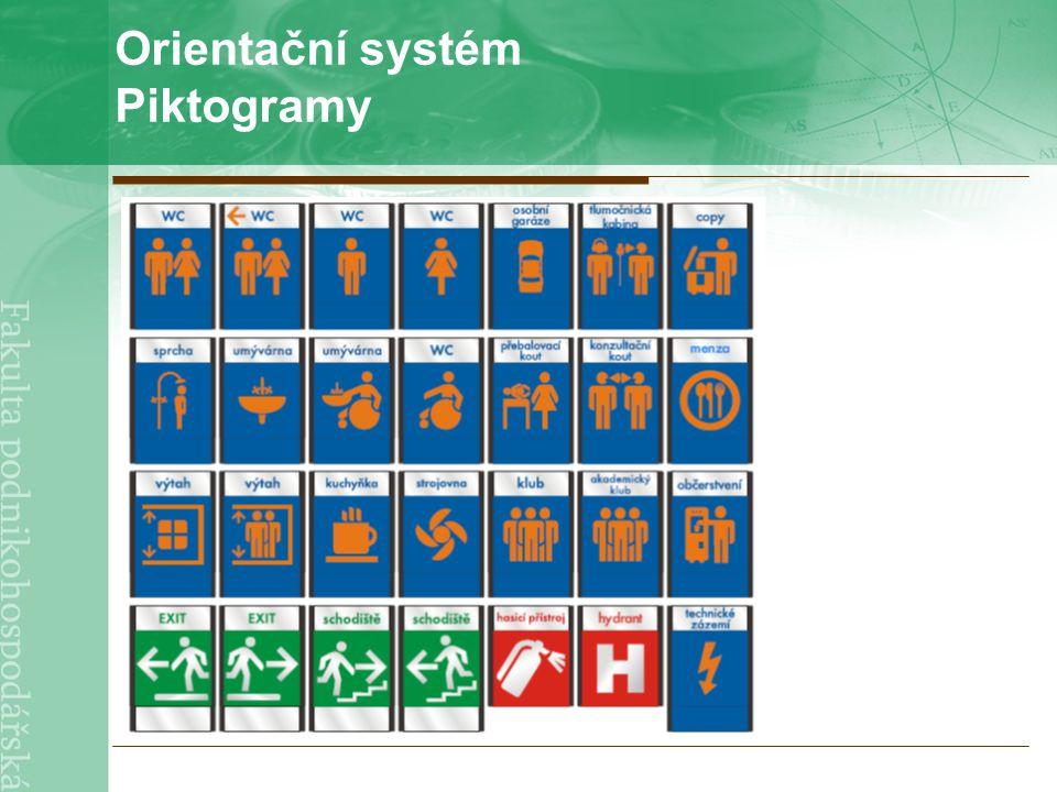 Orientační systém Piktogramy