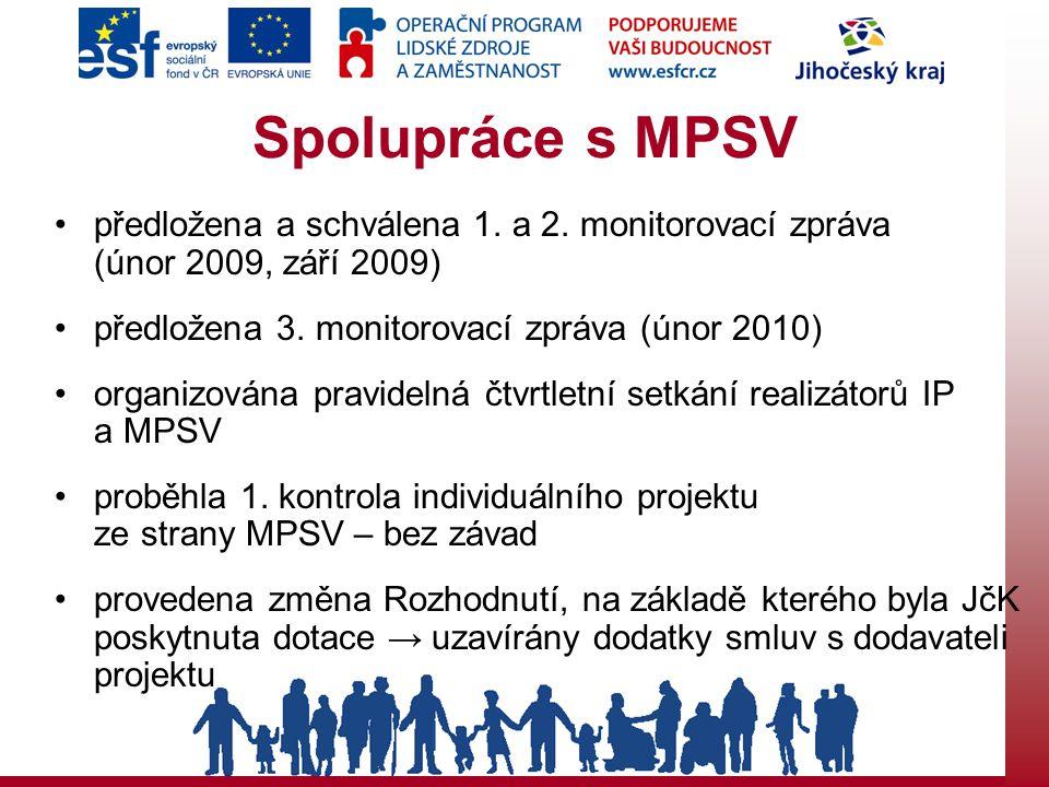 Spolupráce s MPSV předložena a schválena 1. a 2.