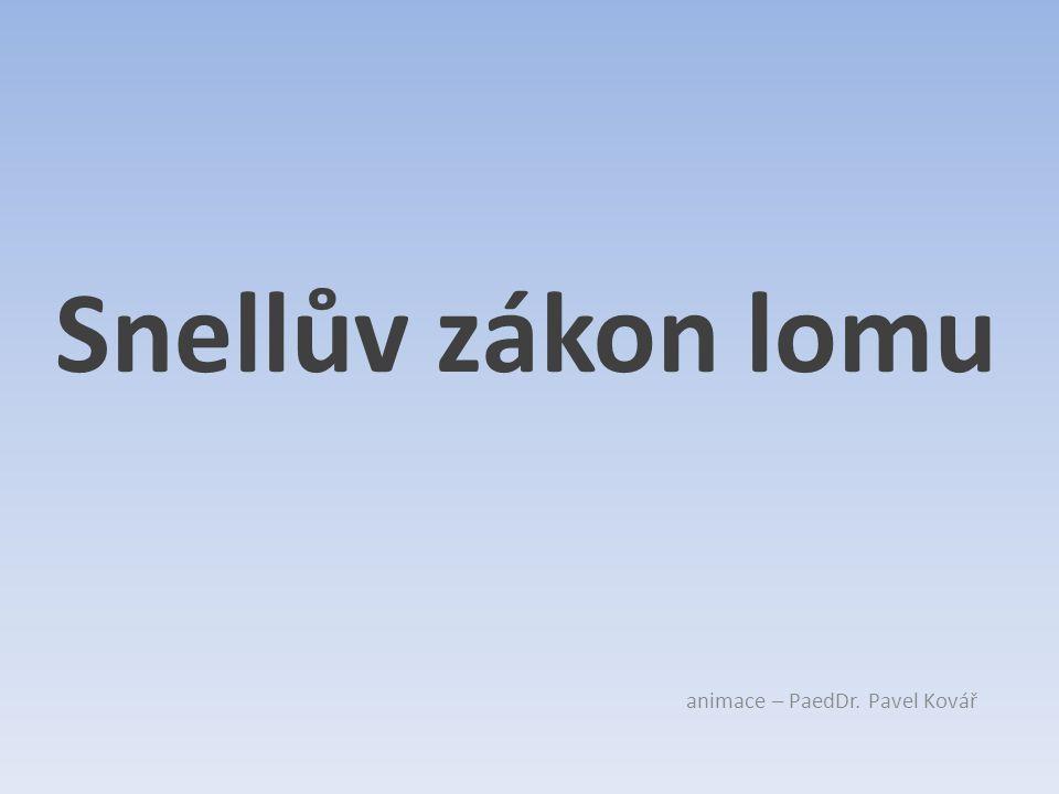 Snellův zákon lomu animace – PaedDr. Pavel Kovář