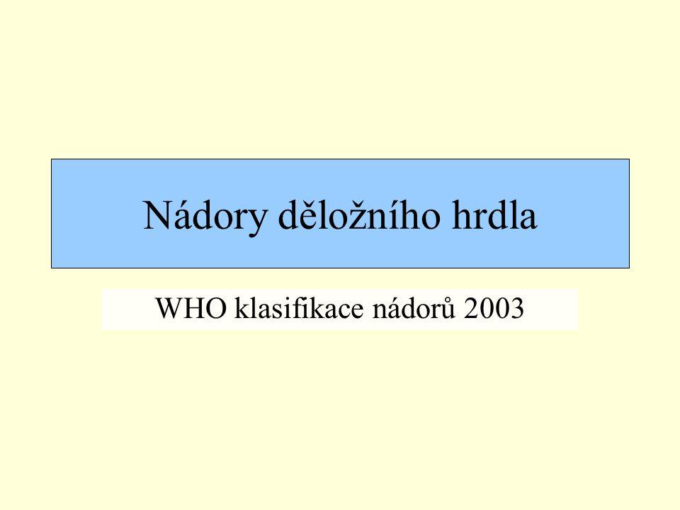 Nádory děložního hrdla WHO klasifikace nádorů 2003