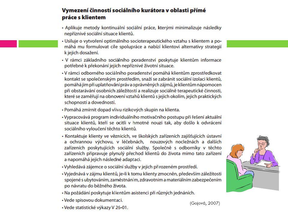 Pracovník probační a mediační služby  Kdo pojetí definuje: Zákon o Probační a mediační službě č.