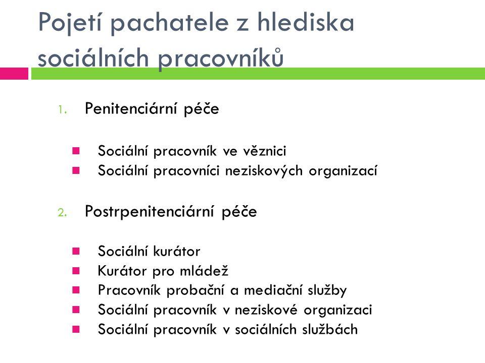 Sociální pracovník ve věznici  Kdo pojetí definuje: Zákon o výkonu trestu odnětí svobody č.