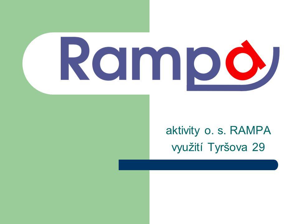 aktivity o. s. RAMPA využití Tyršova 29
