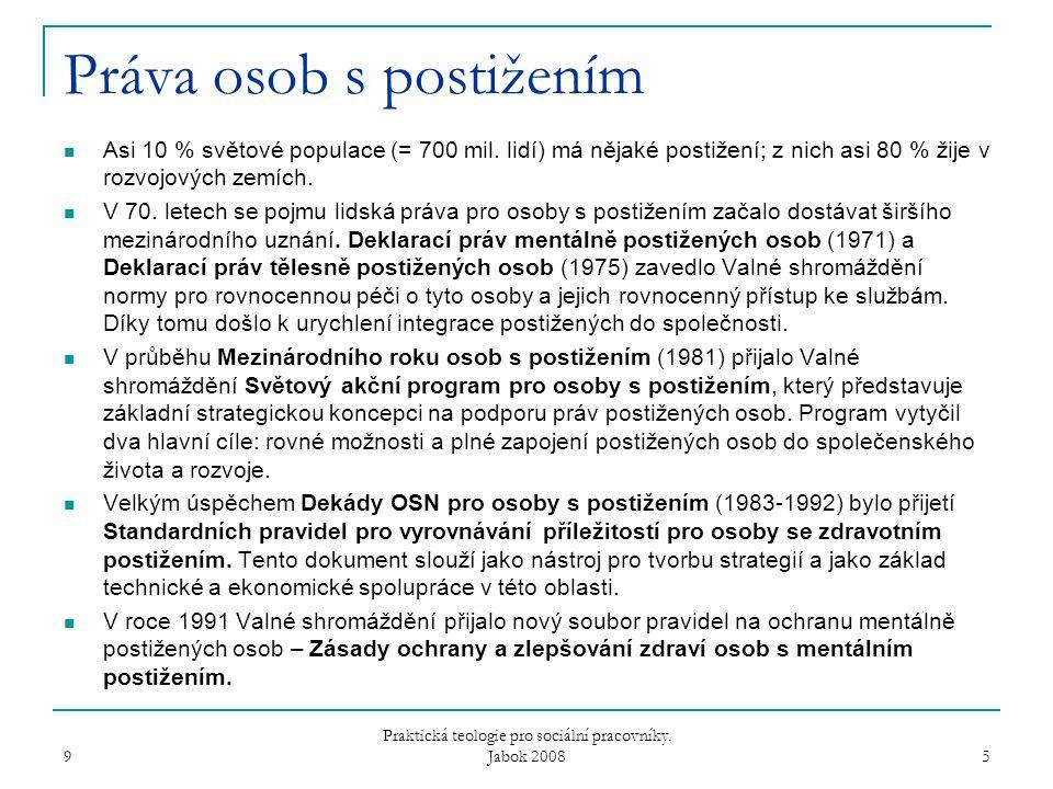 9 Praktická teologie pro sociální pracovníky.Jabok 2008 16 Souhrn 1.