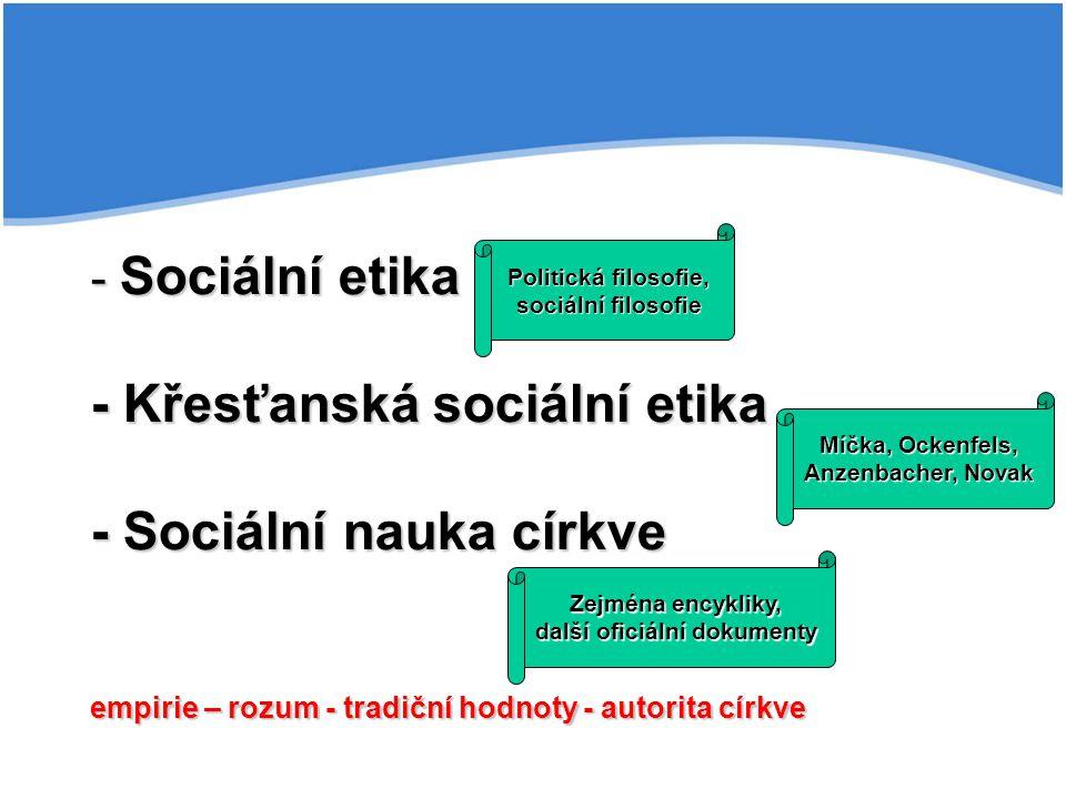OCKENFELS, W.Sociální politika na základě křesťanského obrazu člověka.