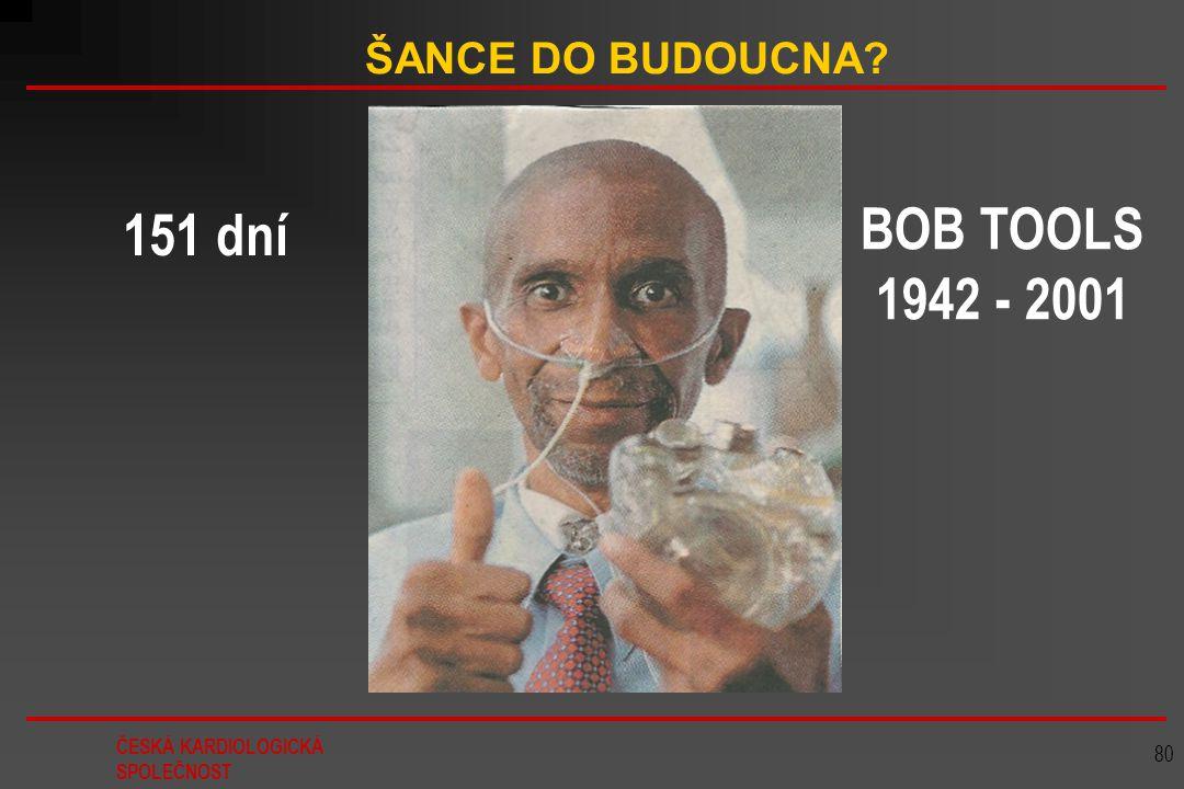 ČESKÁ KARDIOLOGICKÁ SPOLEČNOST 80 ŠANCE DO BUDOUCNA? BOB TOOLS 1942 - 2001 151 dní
