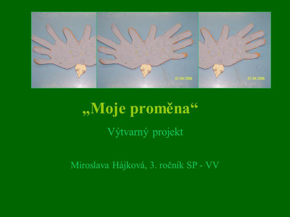 """""""Moje proměna"""" Výtvarný projekt Miroslava Hájková, 3. ročník SP - VV"""