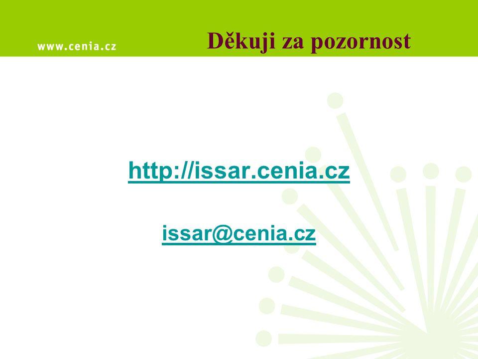 Děkuji za pozornost http://issar.cenia.cz issar@cenia.cz