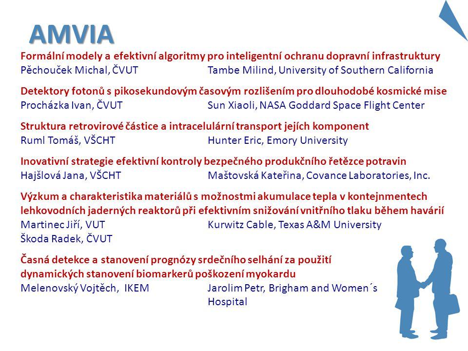 AMVIA Formální modely a efektivní algoritmy pro inteligentní ochranu dopravní infrastruktury Pěchouček Michal, ČVUT Tambe Milind, University of Southe