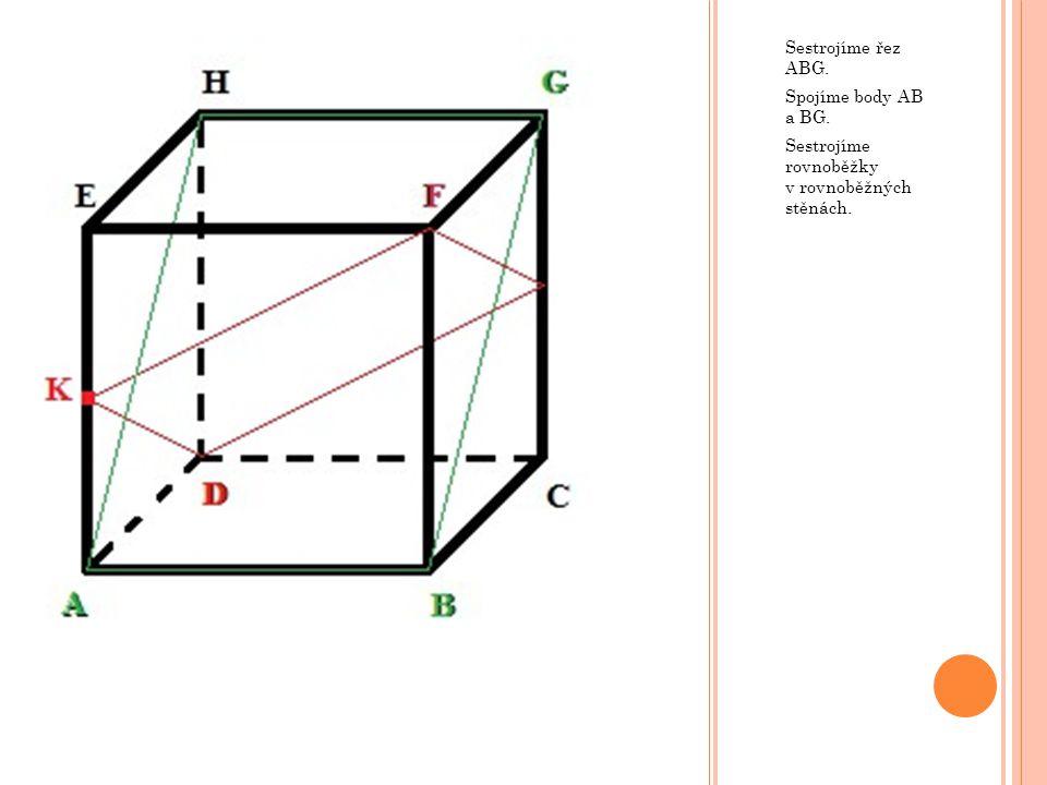 Body O, P a P' určují rovinu. Sestrojíme řez určený touto rovinou.