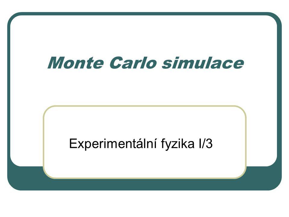 Monte Carlo simulace Experimentální fyzika I/3