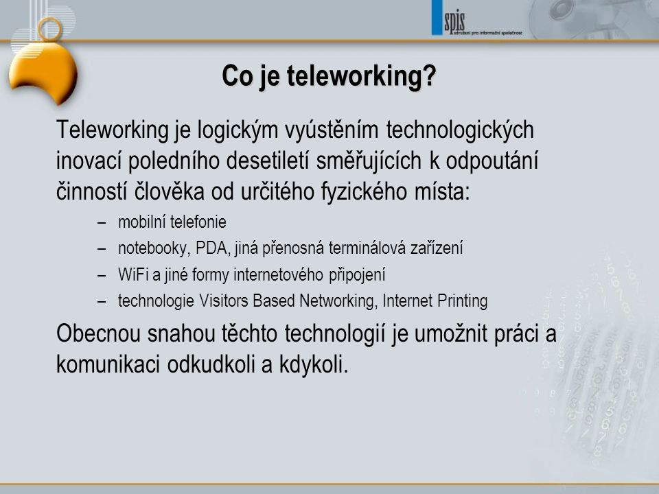Co je teleworking.
