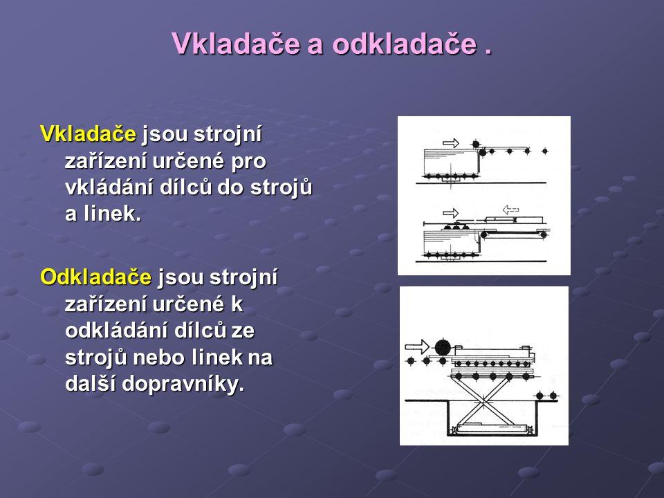 Opakování: K čemu jsou určeny mezistrojové a mezioperační dopravníky .