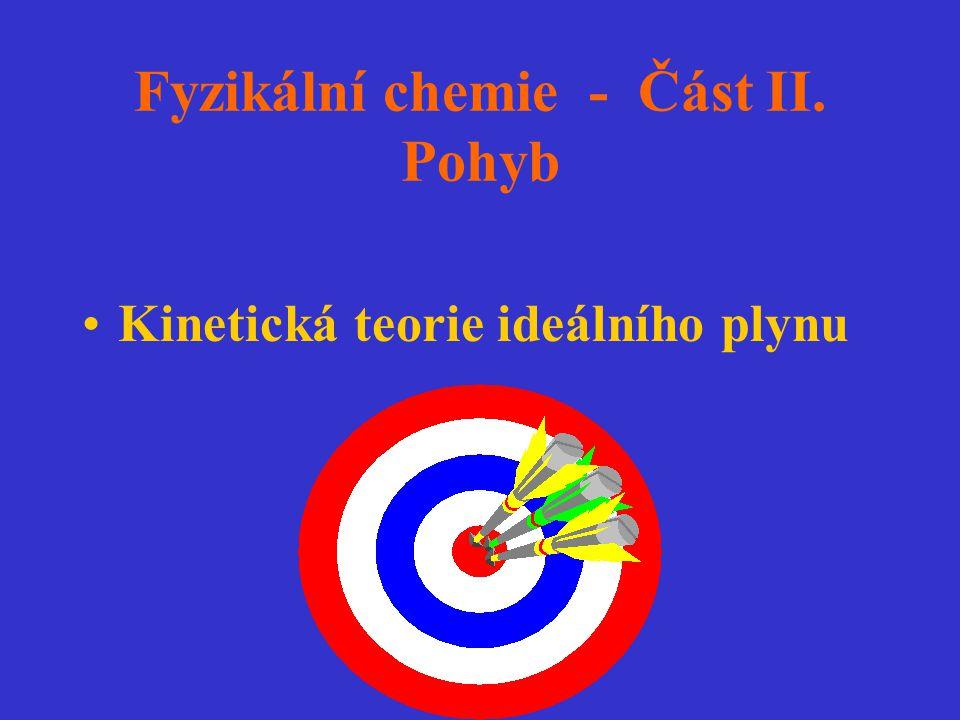 Rychlost přeměny molekul A: dn A /dt= -Z AB.f f = podíl molekul s určitou minimální energií E a : Boltzmannovo rozdělení: f = exp(-E a /(RT)), n A =c A.N A dc A /dt= - (Z AB /N A ).exp (-E a /(RT)) = - .N A.c A.c B [(8.k.T)/(  )] 1/2.exp(-E a /(RT)) Porovnáním: k 2 = .N A.[(8.k.T)/(  )] 1/2.exp(-E a /(RT)) A(T)= .N A.[(8.k.T)/(  )] 1/2 Vliv teploty na k 2 : A(T), exp(-E a /(RT)) A(T) se mění s teplotou méně než k 2