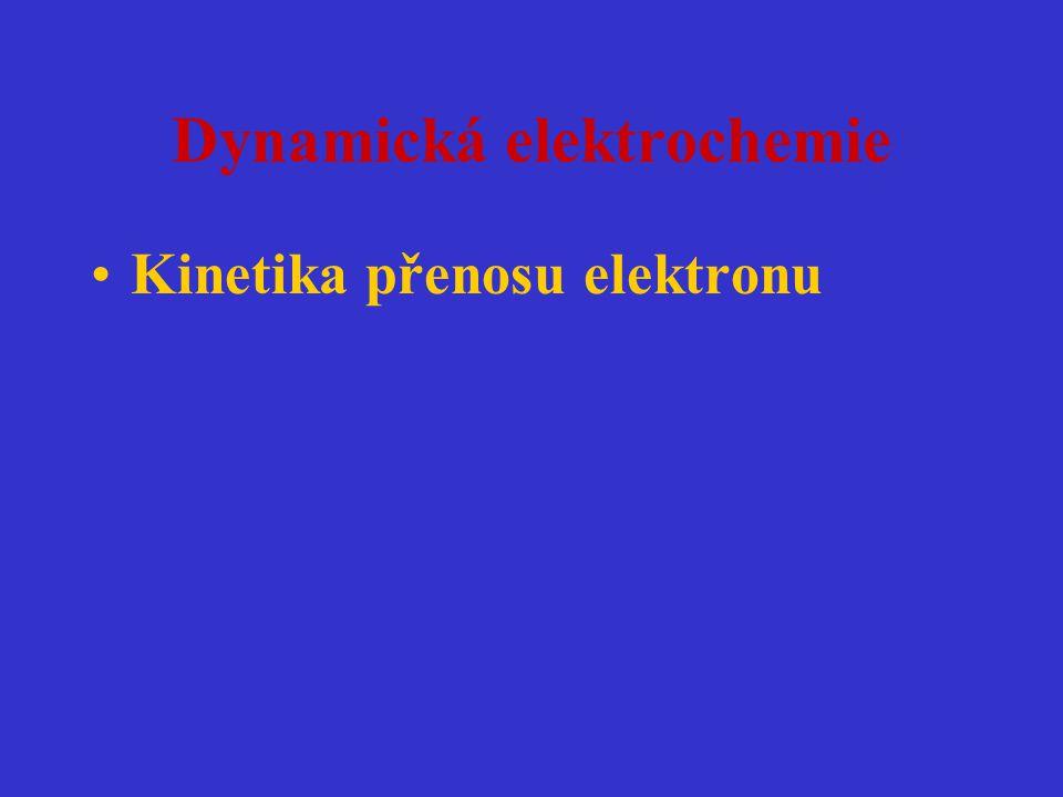 Dynamická elektrochemie Kinetika přenosu elektronu