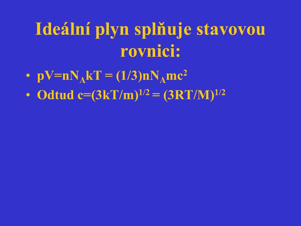 Paralelní reakce A  B v 1 = k 1 c A dc B /dt = k 1 c A ; A  C v 2 = k 2 c A dc C /dt = k 2 c A dc B /dc C = k 1 /k 2 c B /c C = konst.
