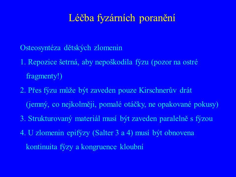 Léčba fyzárních poranění Osteosyntéza dětských zlomenin 1.
