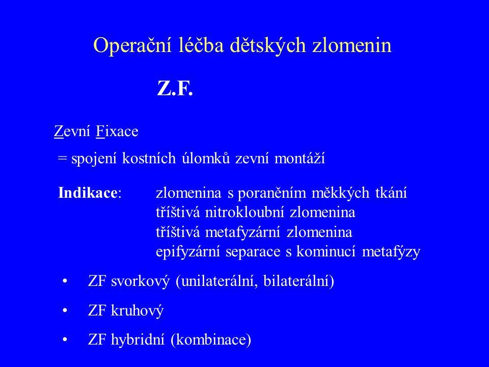 Operační léčba dětských zlomenin Z.F.