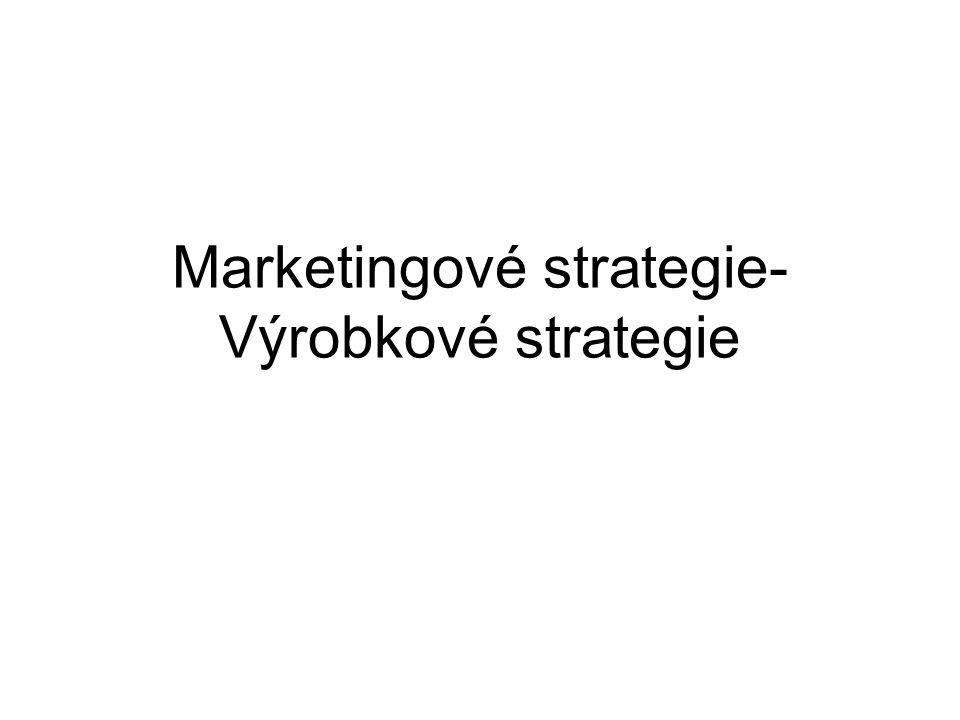 Formulování marketingových strategií Základní směry postupu, vedoucí ke splnění cílových úkolů Respektují celkovou podnikovou strategii Říká jakým způsobem konkurovat s výrobky nebo službami podniku Marketingové cíleMarketingové strategie OdpověďTýká seodpověďTýká se Co.