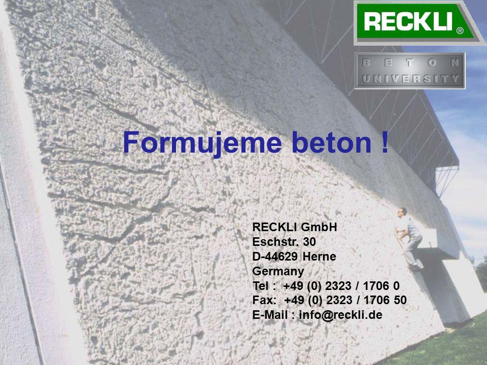 Formujeme beton .RECKLI GmbH Eschstr.