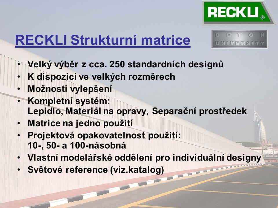 Velký výběr z cca. 250 standardních designů K dispozici ve velkých rozměrech Možnosti vylepšení Kompletní systém: Lepidlo, Materiál na opravy, Separač