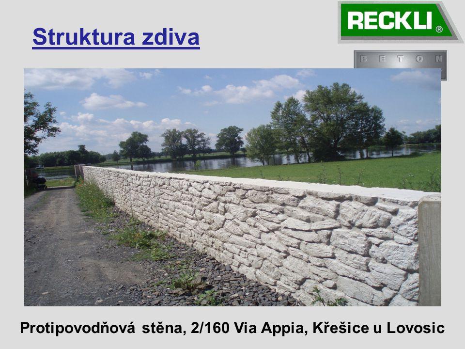 Struktura zdiva Protipovodňová stěna, 2/160 Via Appia, Křešice u Lovosic