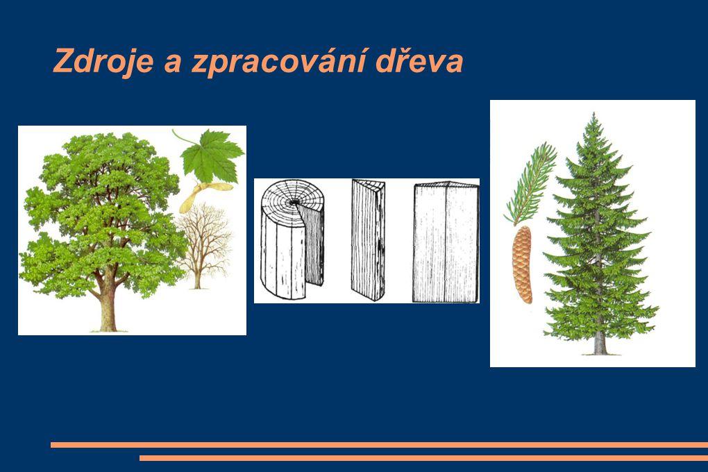 Zdroje a zpracování dřeva