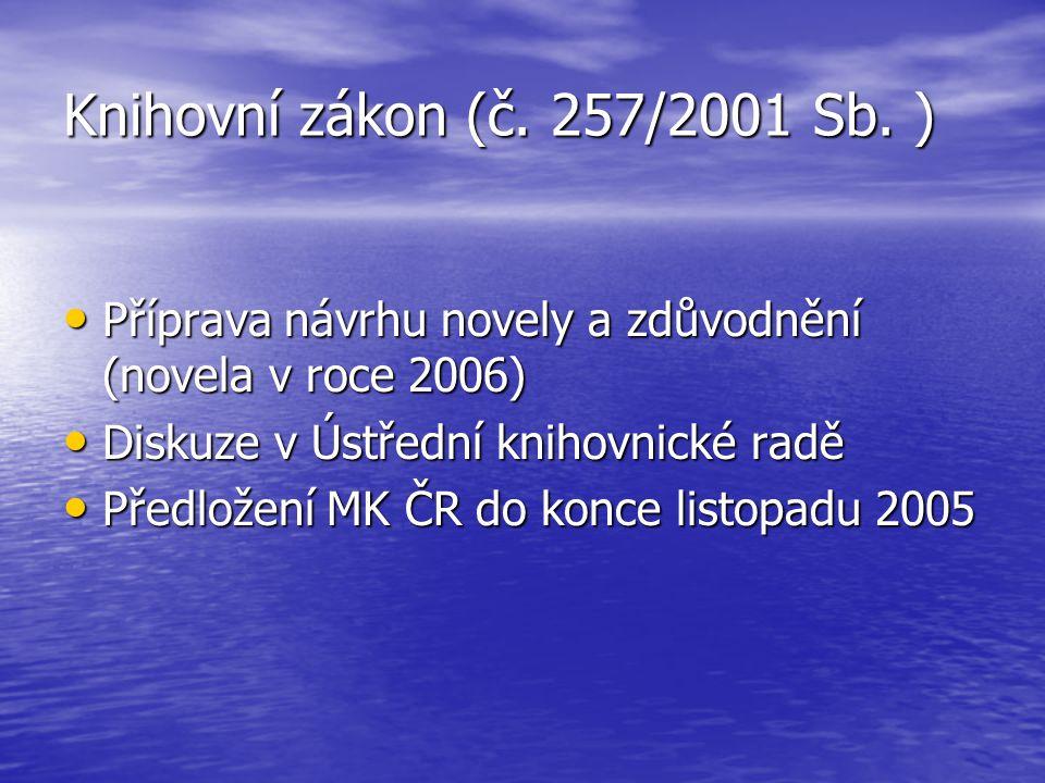Knihovní zákon (č. 257/2001 Sb.
