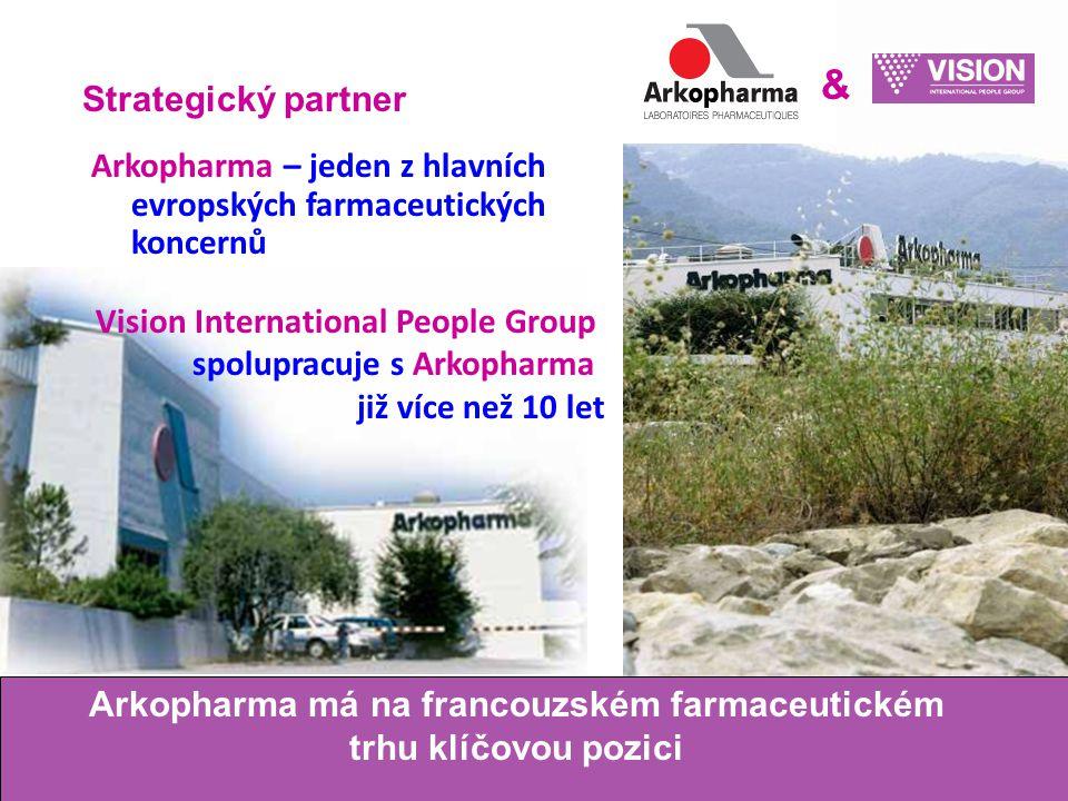 Strategický partner & Arkopharma má na francouzském farmaceutickém trhu klíčovou pozici Arkopharma – jeden z hlavních evropských farmaceutických koncernů Vision International People Group spolupracuje s Arkopharma již více než 10 let