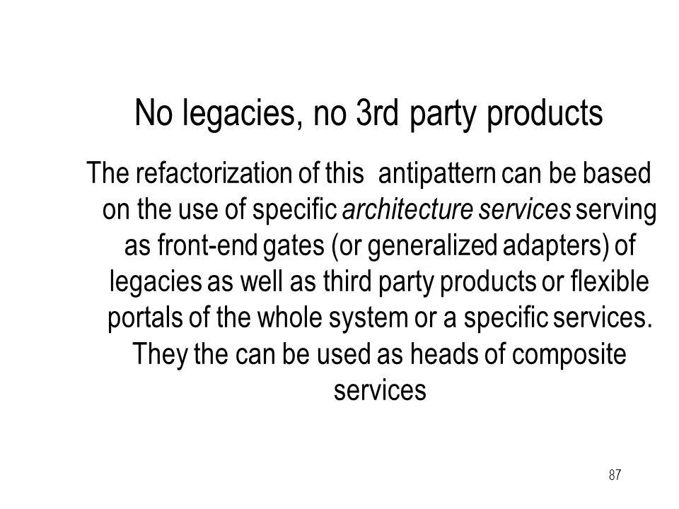 88 SOA with legacies, simplified