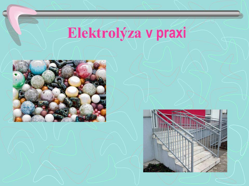 Elektrolýza v praxi