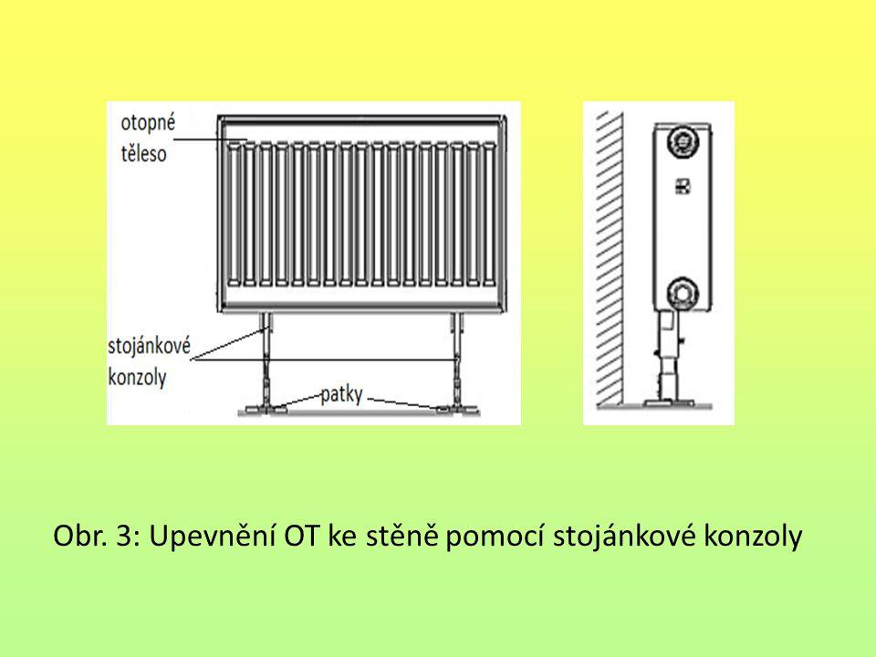 Obr. 3: Upevnění OT ke stěně pomocí stojánkové konzoly