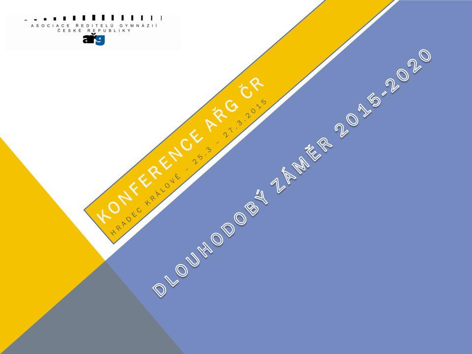 Konference AŘG - Znojmo Ministr Josef Dobeš Náměstek Ladislav Němec Cíl – víceletá G – 5% Podpora odborného vzdělání Ekonomické tlaky a zájem Krajů .