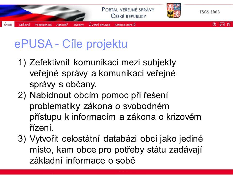 Portál veřejné správy © 2002 IBM Corporation ISSS 2003 1)Zefektivnit komunikaci mezi subjekty veřejné správy a komunikaci veřejné správy s občany. 2)N