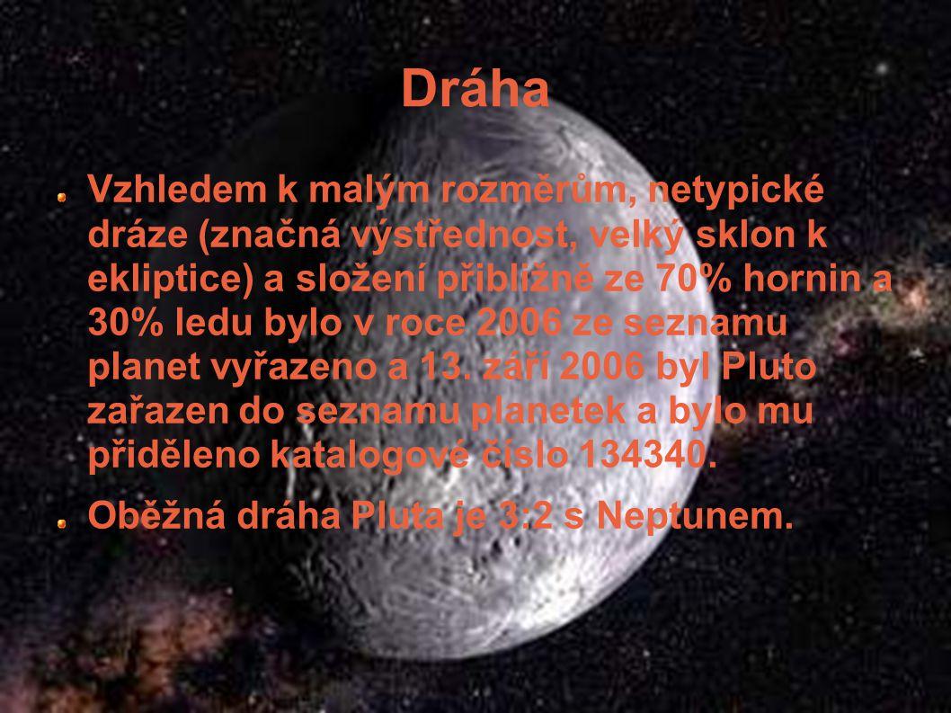 Informace (134340) Pluto je trpasličí planeta ve sluneční soustavě. Bylo objeveno 18. února 1930 Clydem Tombaughem (objev byl oznámen 2. března 1930)