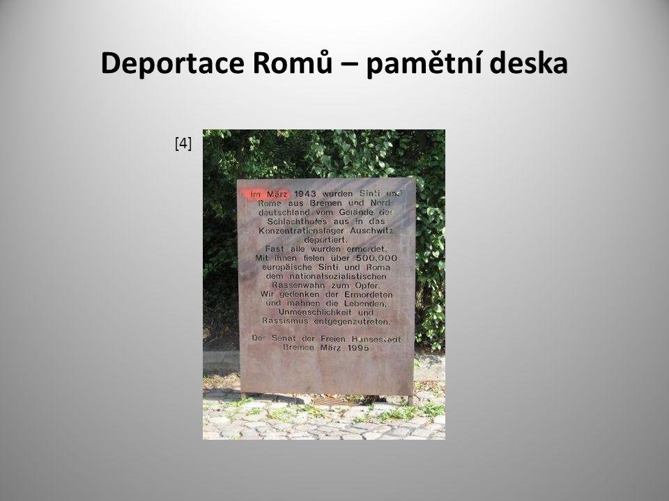 Deportace Romů – pamětní deska [4]
