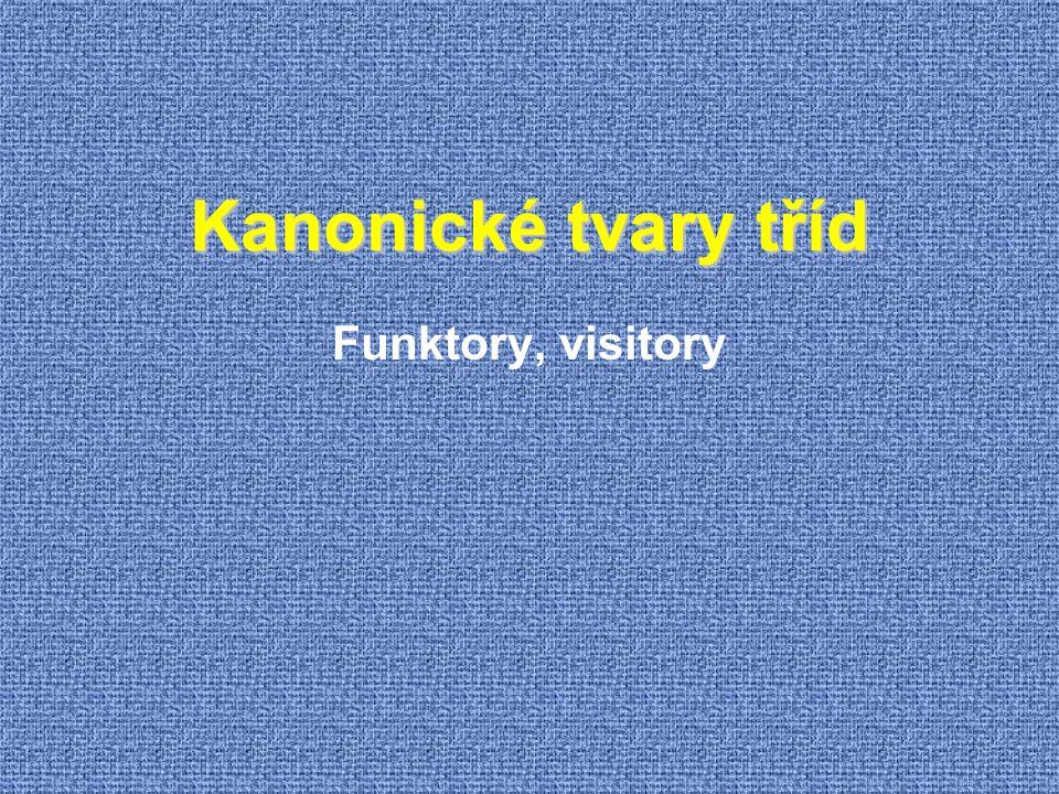 Kanonické tvary tříd Funktory, visitory