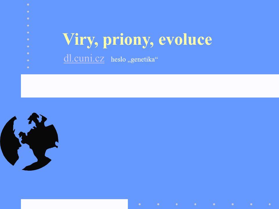 "Viry, priony, evoluce dl.cuni.czdl.cuni.cz heslo ""genetika"""