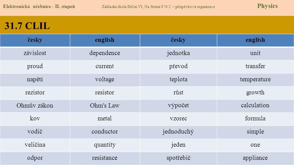31.8 Test znalostí Správné odpovědi: 1.b 2.b 3.c 4.b Test na známku Elektronická učebnice - II.